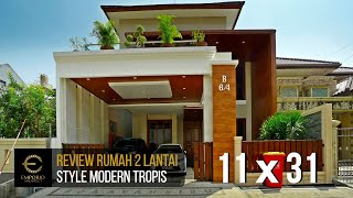 Video Construction Results Mr. Anton M. Purba Modern House 2 Floors Design - Jakarta