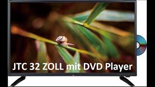 TV JTC 32 ZOLL  GQ03D-AS32D mit integriertem DVD - Player - Erstinbetriebnahme und Sendersortierung