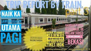 preview picture of video 'Trip by Train - Naik KA Sawunggalih Utama Pagi Part 3 (Cakung - Bekasi) | Ngebut banget keretanya'