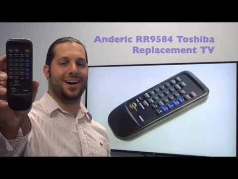ANDERIC RR9584 Toshiba TV Remote Control