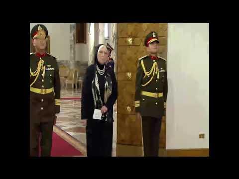 السيدة / نيفين جامع تؤدى اليمين الدستورية أمام السيد الرئيس / عبد الفتاح السيسى