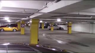 Parking garage EV charging with extension cord