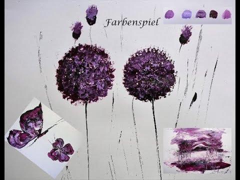 Acrylmalerei-Farbmischungen-Farbenspiel-Acrylic Painting - V131