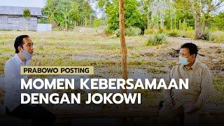 Menhan Prabowo Posting Foto Momen Kebersamaan dengan Jokowi, Serius Menyimak Presiden