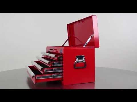 Werkzeugkiste mit 6 Schubladen - Rot | Datona.de