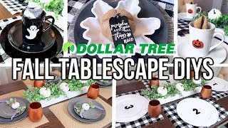 DIY DOLLAR TREE DIY TABLESCAPE | HOW TO DECORATE YOUR FALL TABLE