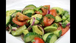 Cucumber Salad – How to Make Cucumber  Tomato and Avocado Salad