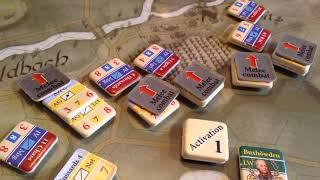 """""""Austerlitz"""" beginners example of combat in Hexasim's game"""