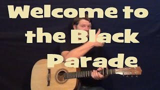 Welcome To The Black Parade (My Chemical Romance) Easy Guitar Lesson How to Play Tutorial