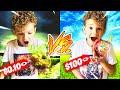 7 Year Old GUESSING Cheap VS Expensive FOOD ITEM CHALLENGE