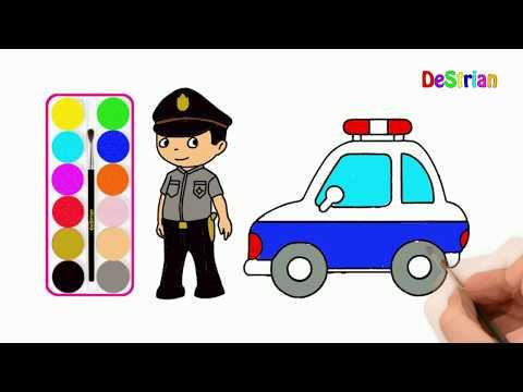 Belajar Gambar Polisi Halikopter Dan Gedung Rumah Tempat Kerja