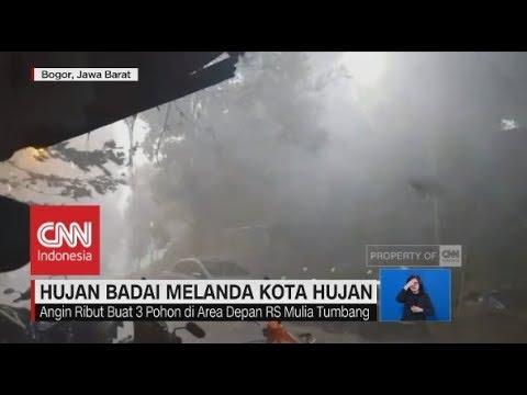 """Hujan Badai Terjang """"Kota Hujan"""" Bogor; Petani Tewas Tersambar Petir"""