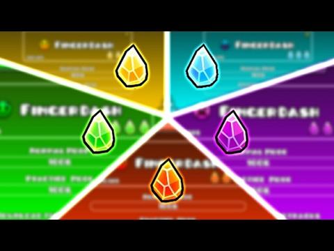 FINGERDASH but.... SHARD BATTLE! | Geometry Dash 2.1 : Fingerdash (Fire.Ice.Poison.Shadow.Lava)