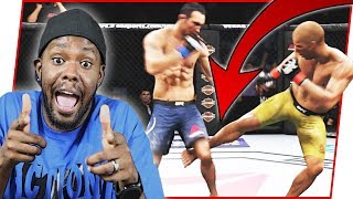 TAKING NAMES AND SNAPPING LEGS! - UFC 3 Gameplay