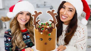 HOW TO MAKE A REINDEER CAKE!