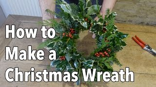How To Make A Christmas Holiday Wreath