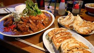 【大食い】お食事処ぼんち 特大カレー&餃子【デカ盛り】