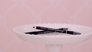 Get BADgal waterproof liner! http://bit.ly/1vaPO4D  The best waterproof liner stays put rain or shine. Get as close to the lashline as possible for bigger, bolder eyes with BADgal liner. A versatile blending tip on the end helps create soft definition or sultry drama. Watch this quick video, then line your eyes to perfection.  See BADgal waterproof liner in action!   http://www.benefitcosmetics.com  Subscribe for more Tips & Tricks: http://bit.ly/Utd37q  View in HD!