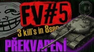 "World of Tanks | FV#5 | ""Překvapení s T-62A!"" 