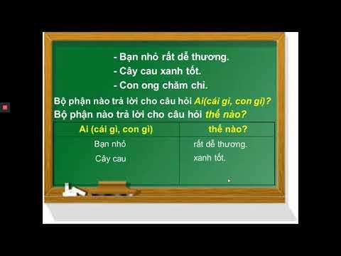 LUYỆN TỪ VÀ CÂU LỚP 2 - TỪ CHỈ ĐẶC ĐIỂM (ÔN TẬP) - GV TRẦN THỊ THANH THƠM - TH HOÀNG VĂN THỤ