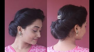 Messy Hair Updo For Every Occasions|Easy Bun Hairstyle|Step By Step|Asmita