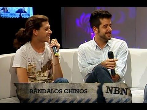 Bandalos Chinos video Presentan Nunca estuve acá - Entrevista CM 2015