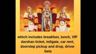 Padmavathi travels - one day package from chennai to tirupat