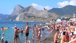 Судак пляж город В Крым на море 2015 Без комментариев