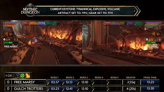 WoW Mythic Global Tournament Finals Day 2! Free Marsy vs Gulch Trotters