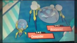 Araquanid  - (Pokémon) - How to evolve Dewpider into Araquanid! Pokemon sun and moon!!