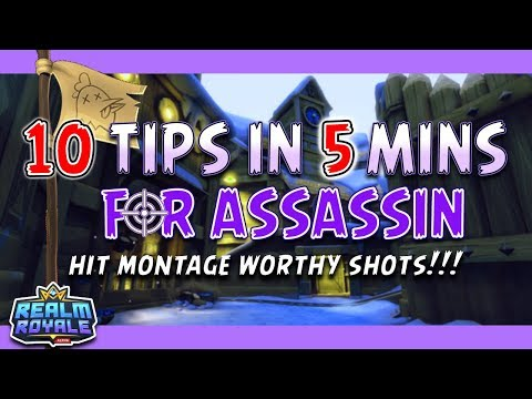Realm Royale - 10 Tips In 5 Mins: Assassin! Learn To Hit Every Shot! Mp3