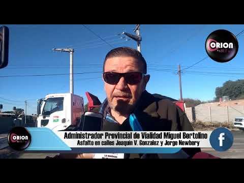 Entrevista al Administrador Provincial de Vialidad Miguel Bertolino.