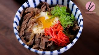 Easy Beef Rice Bowl, Gyudon