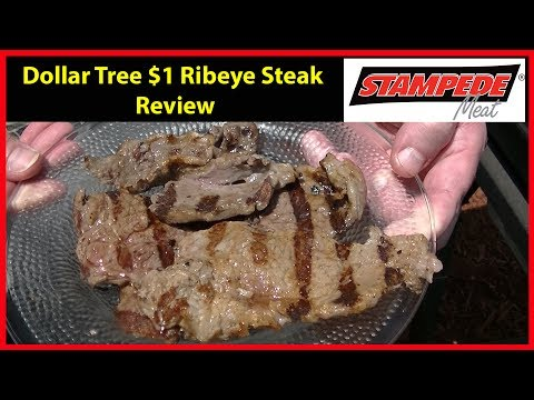 Dollar Tree $1 Rib Eye Steak Cook and Review | JKMCraveTV