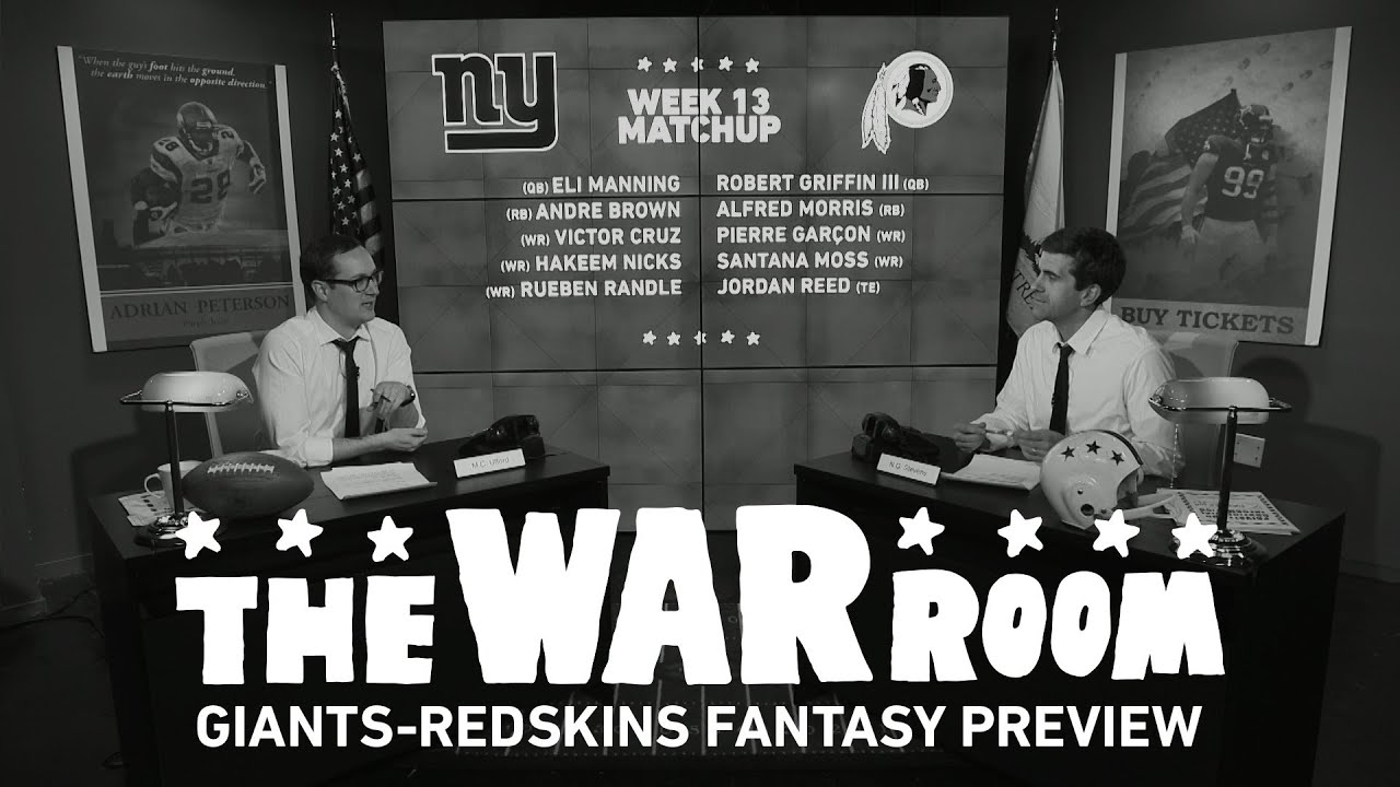 Giants vs Redskins Sunday Night Football Fantasy Preview - The War Room thumbnail