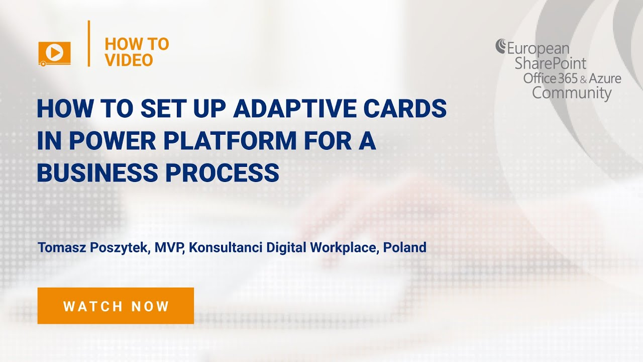 How to set up Adaptive Cards in Power Platform for a Business Process