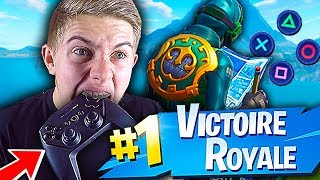 JE RETENTE LE TOP 1 À LA MANETTE SUR FORTNITE BATTLE ROYALE !!!