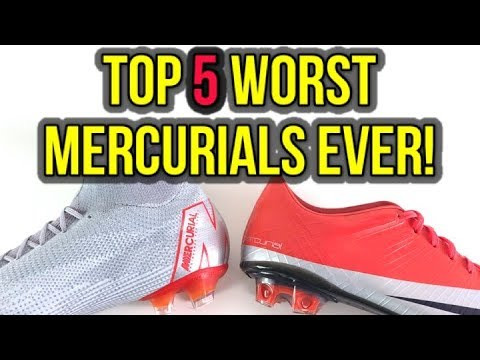 TOP 5 WORST NIKE MERCURIAL FOOTBALL BOOTS OF ALL-TIME!