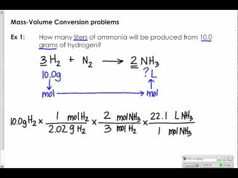 MassVolume And VolumeMass Stoichiometry  Ck Foundation