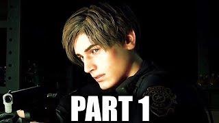Resident Evil 2 Remake Early Gameplay Walkthrough Part 1 - LEON (PS4 Pro 4K)