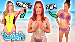 The WEIRDEST Wish Swimsuits?! * fur, fringe & glitter * by Clevver Style