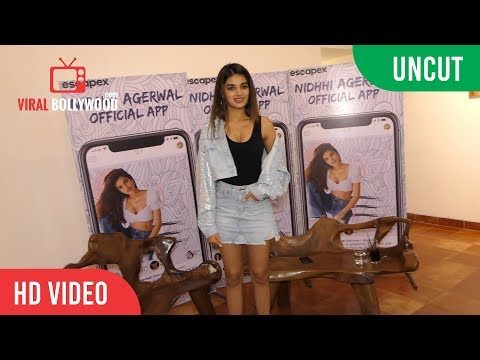 UNCUT - Chit Chat With Gorgeous Nidhhi Agerwal | Niddhi Agerwal Official App Launch
