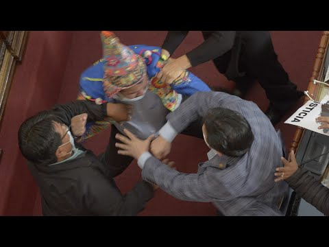 بوليفيا : عراك بين النواب ووزير الداخلية :