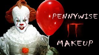 PENNYWISE (Normal Clown Form) Makeup - IT Movie 2017