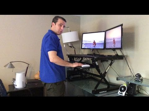 FlexiSpot 35 Inch Stand Up Desk Unboxing And Installation Review