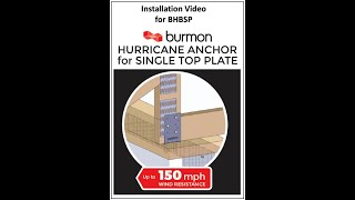 Hurricane Anchor for Single Top Plate