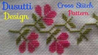 Cross Stitch Border Pattern | Dusutti Design | Ponto Cruz