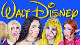 Dead Disney Princesses Halloween Makeup! (2018)