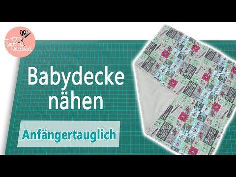 Einfache Babydecke nähen - Einsteigerfreundlich - ohne Schnittmuster