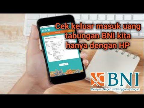 Cara Cek Uang Keluar & Masuk (Mutasi) Rekening BNI | Mobile Banking BNI